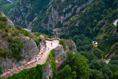 Cable Car to Monserrat Monastery Royalty Free Stock Image