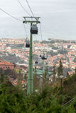 Cable car to Monte at Funchal, Madeira Island Royalty Free Stock Photography
