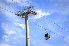 Cable car to Montjuic hill, Barcelona, Spain Royalty Free Stock Photography