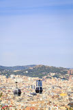 Cable car to Montjuic hill, Barcelona, Spain Stock Images