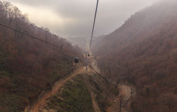 The cable car to the mountain Tufandag.Gabala.Azerbaijan Stock Image