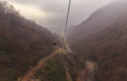 The cable car to the mountain Tufandag.Gabala.Azerbaijan Stock Image