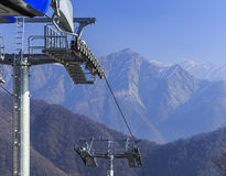 The cable car to the mountain Tufandag.Gabala.Azerbaijan Royalty Free Stock Photos