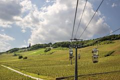 Cable car to the Niederwald Monument Stock Image
