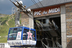 Cable car to Pic du Midi Observatory Royalty Free Stock Image