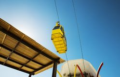 Cable car to Rosh HaNikra grotto in Israel. Cable car to Rosh HaNikra grotto in North Israel Stock Photography