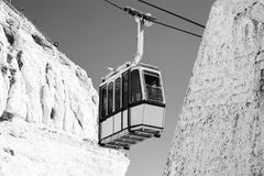 Cable car to Rosh HaNikra grotto in Israel. Cable car to Rosh HaNikra grotto in North Israel Royalty Free Stock Images