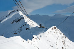 Cable car to Rote Nase, Switzerland Royalty Free Stock Images