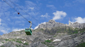 Cable car to the Säntis Stock Images