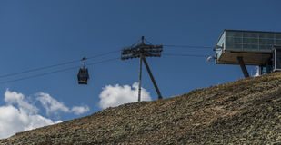 Cable car to Snezka hill Royalty Free Stock Photography