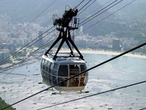 Cable car to sugar loaf Stock Photos