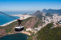Cable Car to the Sugarloaf Mountain in Rio de Janeiro Royalty Free Stock Images
