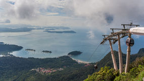 Cable car to the top of Langkawi island Royalty Free Stock Photos