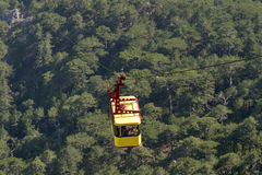 Cable car to the top of Mountain Ai-Petri Royalty Free Stock Photo