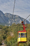 Cable car to the top of Mountain Ai-Petri Royalty Free Stock Photos