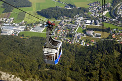 Cable car to Untersberg mount Royalty Free Stock Photography
