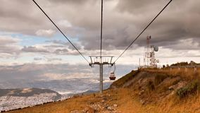 Quito Cable Car stock video