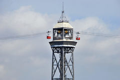 Cable car tower Royalty Free Stock Photo
