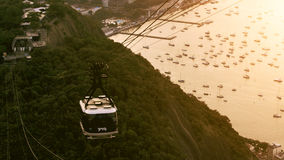 Cable Car Traffic at Sugar Loaf Mountain Stock Image