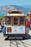 Cable car tram railway in San Francisco, USA Stock Images