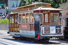 Cable car tram railway in San Francisco, USA Stock Photo