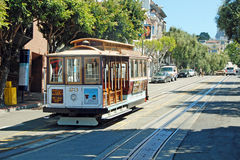 Cable car tram in San Francisco, USA Stock Photography