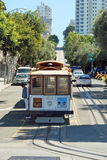 Cable car tram in San Francisco, USA Royalty Free Stock Photos
