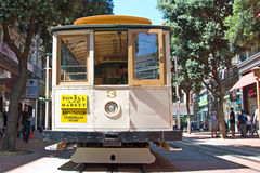 Cable car tram in San Francisco, USA Royalty Free Stock Photo