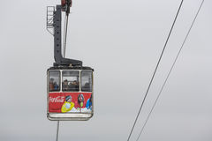Cable car transporting tourists Royalty Free Stock Photos