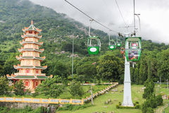 Cable car in Vietnam Stock Images