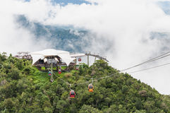 Cable car at view point of Langkawi Sky Bridge in Langkawi, Mala Royalty Free Stock Photos
