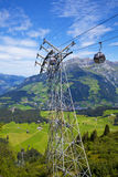 Cable car in the village of Engelberg Stock Photos