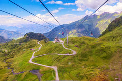 Cable car on the way to glacier at Pick, Kaprun, Kitzsteinhorn , Stock Photos