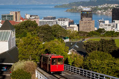 Cable Car in Wellington, New Zealand Stock Photography