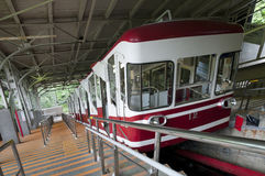 Cable car which travels up the mountain to Koyasan, Japan Stock Photography