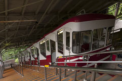 Cable car which travels up the mountain to Koyasan, Japan Royalty Free Stock Image
