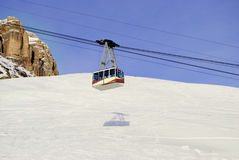 Cable car in the winter Royalty Free Stock Photography