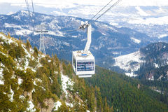 Cable Car Winter Royalty Free Stock Images