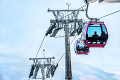 Free Cable Car With Passengers Arriving Royalty Free Stock Images - 30829619