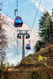Cable car in the woods Royalty Free Stock Photography