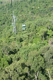 Cable cars. In the Jungle of Australia Stock Photo