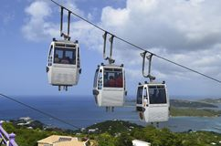 Cable Cars Ascending to Paradise Point Stock Photography