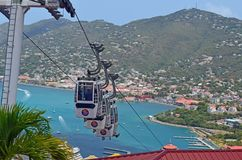 Cable Cars Ascending to Paradise Point Royalty Free Stock Photography