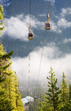 Banff Gondola Cable Cars on Sulphur Mountain Stock Images