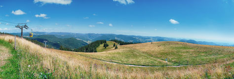 Cable cars by Belchen mountain, Germany Stock Photo