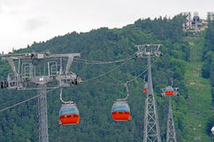 Cable cars equipment Royalty Free Stock Photo