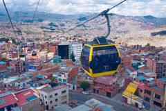 Cable cars  in La Paz.  Bolivia Stock Photo