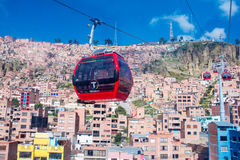 Cable cars  in La Paz.  Bolivia Stock Images