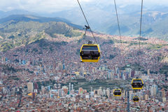 Cable cars in  La Paz.Bolivia Stock Photography