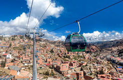 Cable cars in La Paz, Bolivia Royalty Free Stock Image